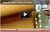 látkové rolety řetízkové styltex