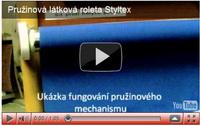 látkové rolety pružinové styltex