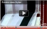 římské rolety z dekoračních látek styltex