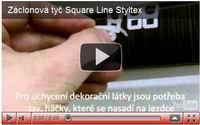záclonová tyč squareline styltex