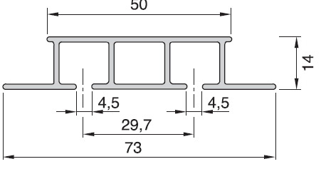 objektová dvojkolejnička al325 profil